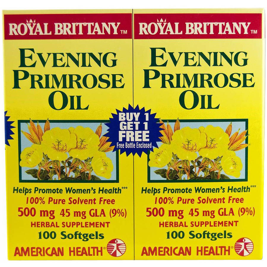 American Health Royal Brittany Evening Primrose Oil, 2/100 CT