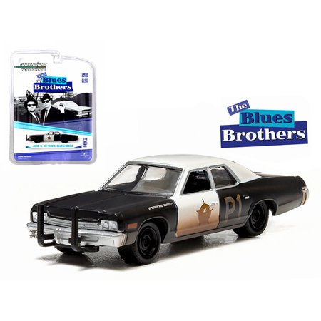 - 1974 Dodge Monaco Bluesmobile The Blues Brothers (1980) 1/64 Diecast Model Car by Greenlight