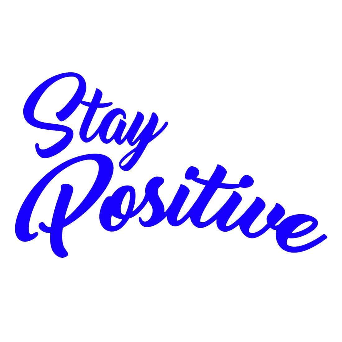 "VWAQ Stay Positive Vinyl Wall Decal, Uplifting Positivity Wall Decor -18120 (Hot Pink, 18"" H X 30"" W)"