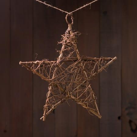 10 in. Grapevine Twig Star - Grapevine Stripe