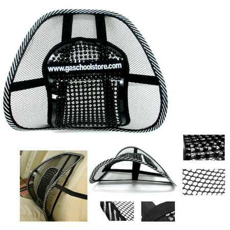 Mesh Lumbar Back Brace Support Office Home Car Seat Chair Cushion Cool Black New Auto Back Support
