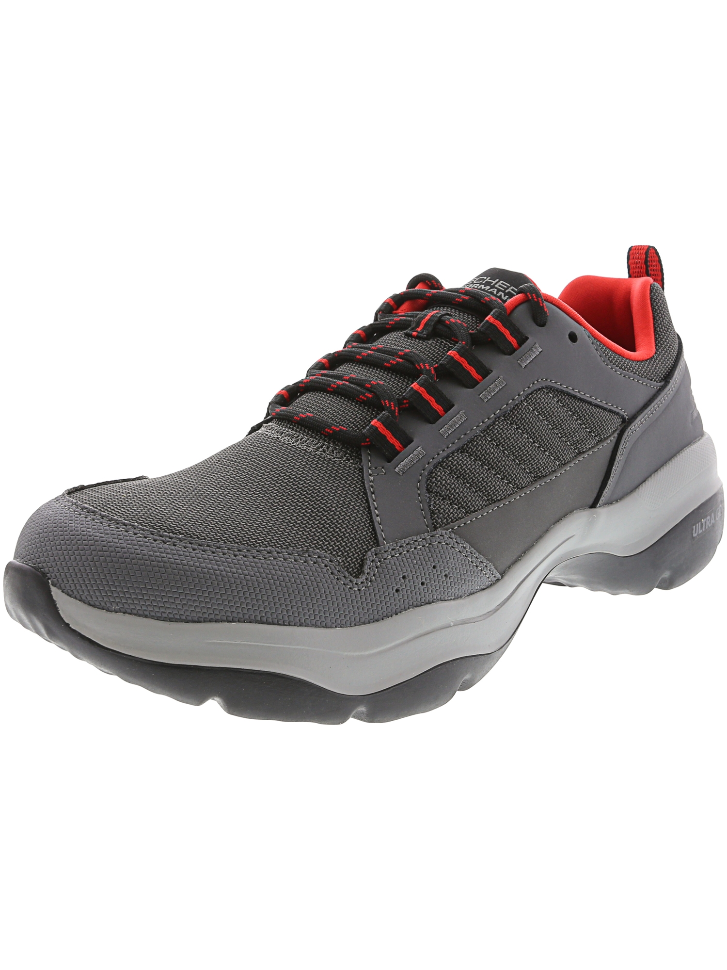 Skechers Performance Men?s Mantra Ultra-Concept Running Shoes - 9M - Charcoal / Red