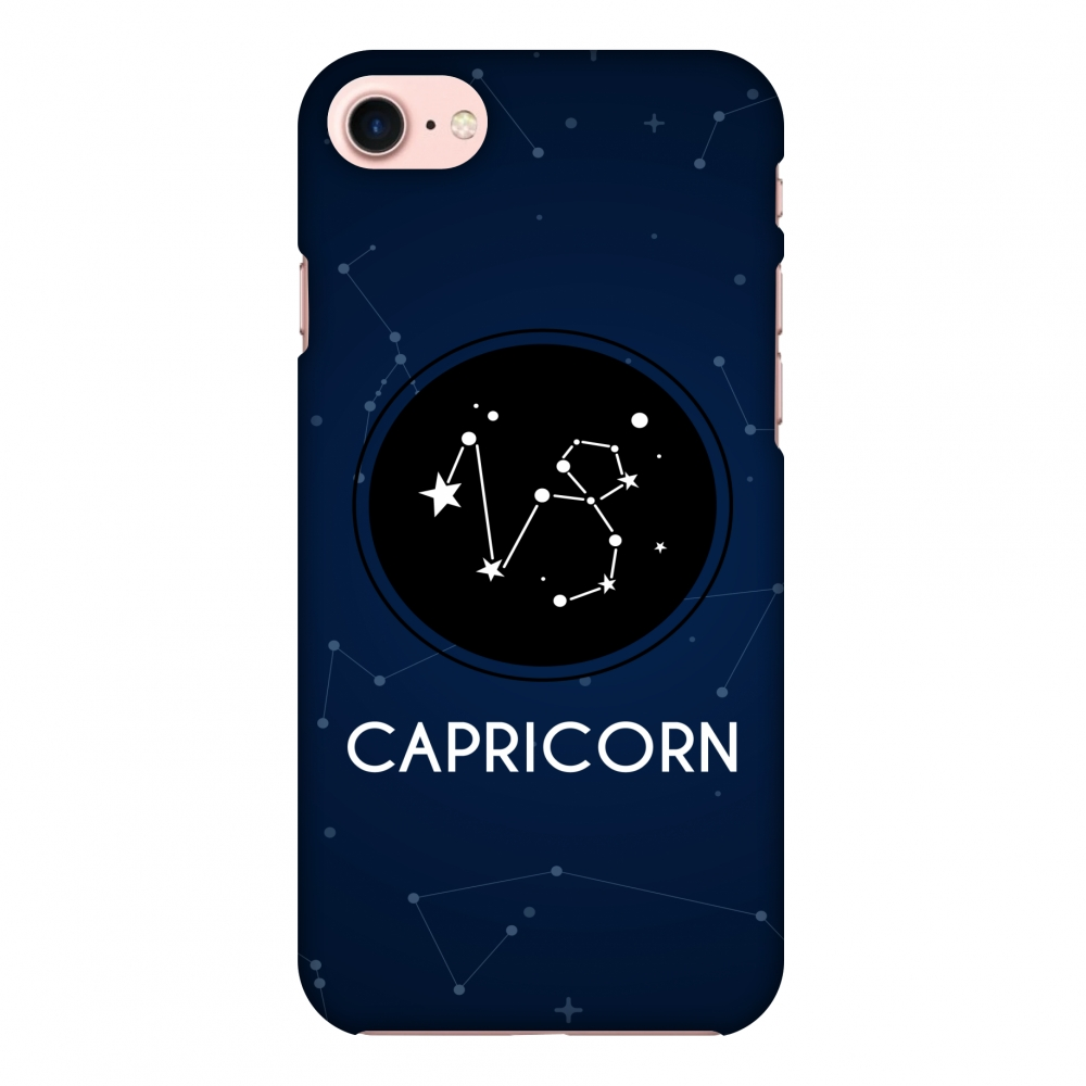 iPhone 7 Case, Premium Handcrafted Designer Hard Shell Snap On Case Printed Back Cover with Screen Cleaning Kit for iPhone 7, Slim, Protective - Stars Capricorn