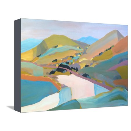 Pete Canvas Art (PCH Pastel Mountain Hill Abstract Landscape Painting Stretched Canvas Print Wall Art By Pete Oswald)