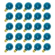 Sival 70177 - G50 Intermediate Screw Base Transparent Teal (25 pack) Christmas Light Bulbs