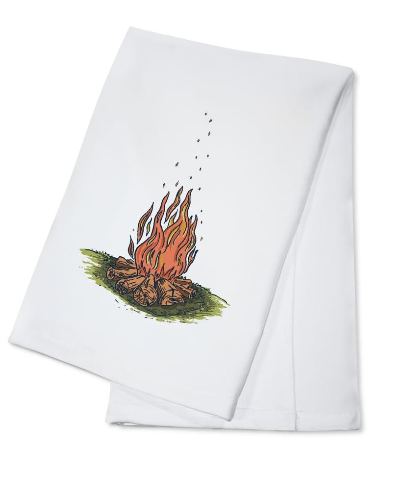 Click here to buy Campfire Icon Lantern Press Artwork (100% Cotton Kitchen Towel) by Lantern Press.