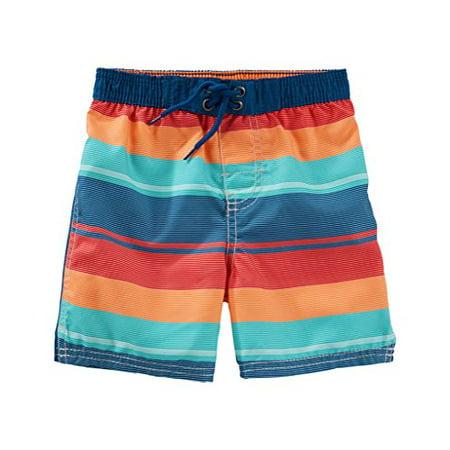 c56c7dd75d Oshkosh B'gosh - OshKosh B'gosh Baby Boys' Bathing Swim Trunks- Multi Stripe-  18 Months - Walmart.com
