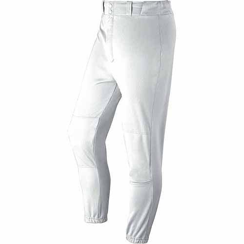 Wilson Youth Baseball Zipper Pants with Elastic Waistband and Belt Loops, White