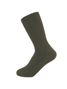 Thin 100% Cotton Socks for Women - 3-pairs in one pack - HIDDEN ELASTIC AT TOP ONLY - select size by your shoe size