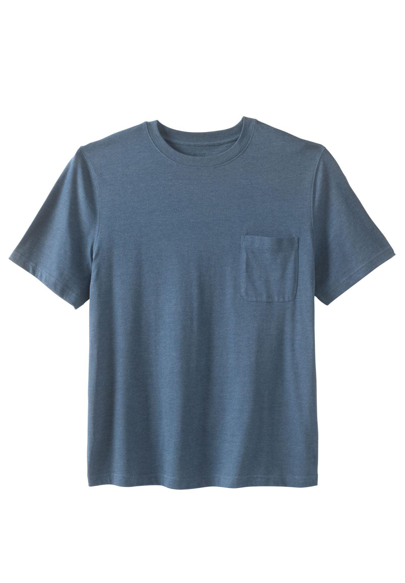 708dae3cc760b2 Kingsize - Kingsize Men's Big & Tall Lightweight Pocket Crewneck T-shirt -  Walmart.com