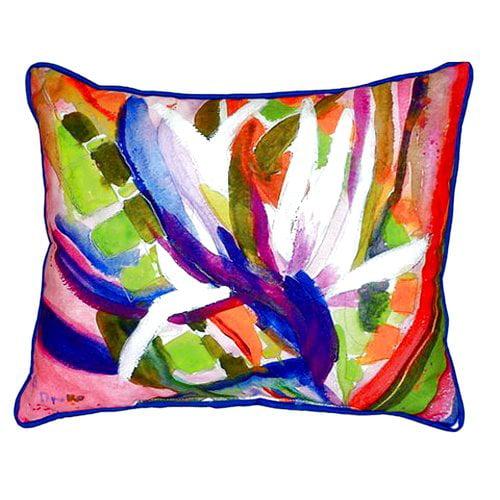 Betsy Drake Interiors Bird of Paradise Indoor/Outdoor Lumbar Pillow
