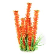 Unique Bargains Fish Tank Landscaping Simulation Underwater Grass Decor Orange 34cm 13 Inch