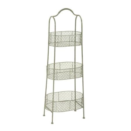 Decmode Metal 3-Tier Basket, Multi Color