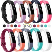 Luxmo 10- Pack Fitbit Alta/ Alta HR, Replacement Bands, Large