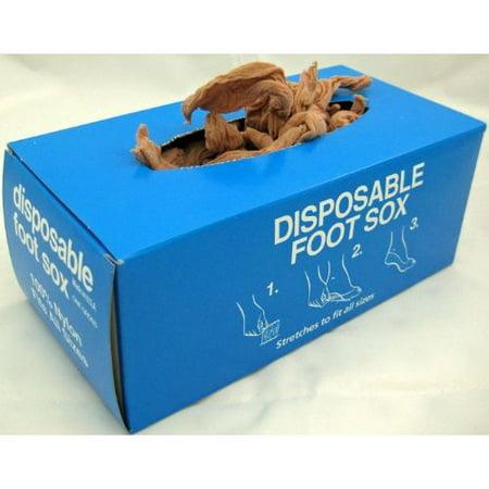 Disposable Foot Socks, DISPOSABLE FOOT SOX, Tan- One Gross, 144 pcs ()