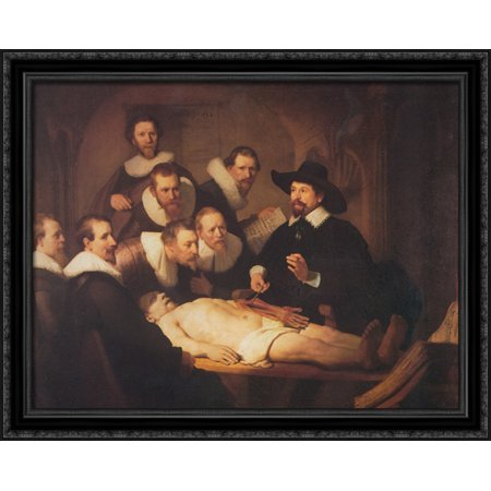 The Anatomy Lesson Of Dr Nicolaes Tulp 36x28 Large Black Ornate