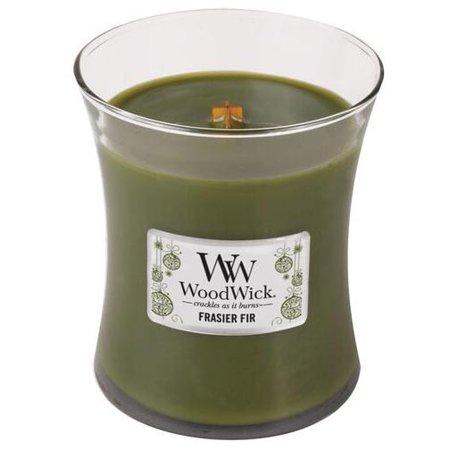 Thymes Frasier Fir Home Fragrance (WoodWick Medium Hourglass Candle - Frasier Fir )
