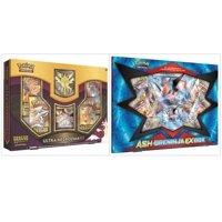 Pokemon Dragon Majesty Ultra Necrozma GX Box and Ash Greninja EX Box Trading Card Game Collection Bundle, 1 of Each