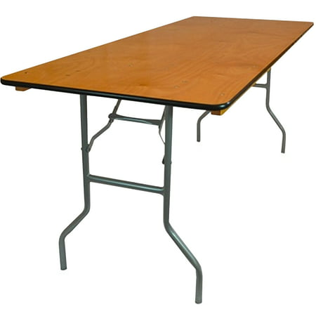 (Advantage 8 ft. Wood Folding Banquet Table)