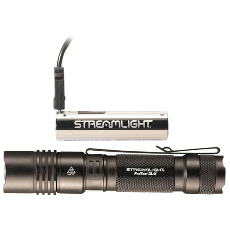 Streamlight ProTac 2L-X USB Rechargeable 500 Lumen LED Handheld Flashlight, Black - 88083 ()