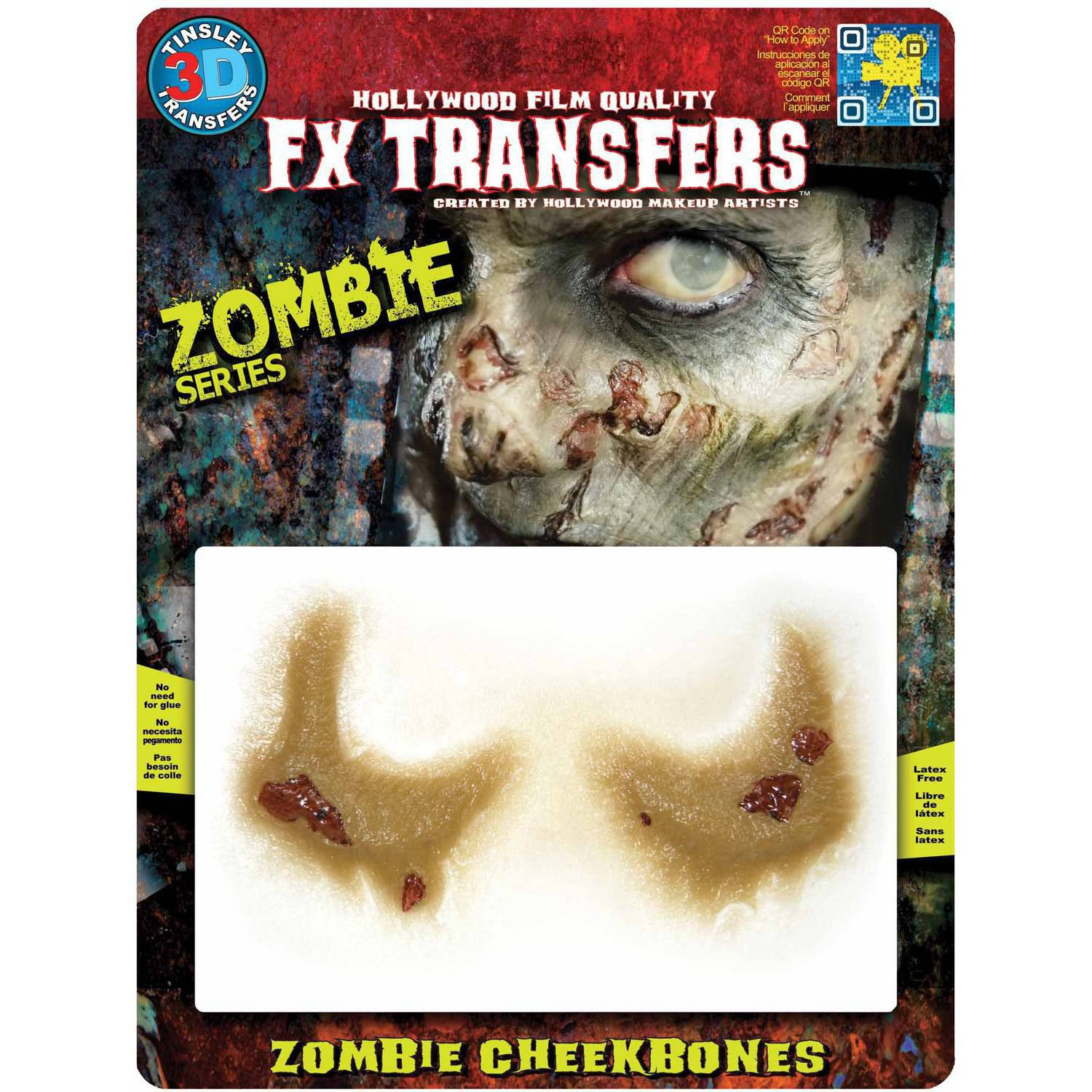 Zombie Medium Cheekbones 3D FX Adult Halloween Accessory