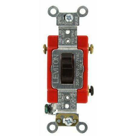 Leviton 1223 2 Brown Industrial Grade Three Way Toggle Light Switch 20