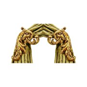 Enlarged Holdback in Gilded Gold - Acanthus - Set of 2
