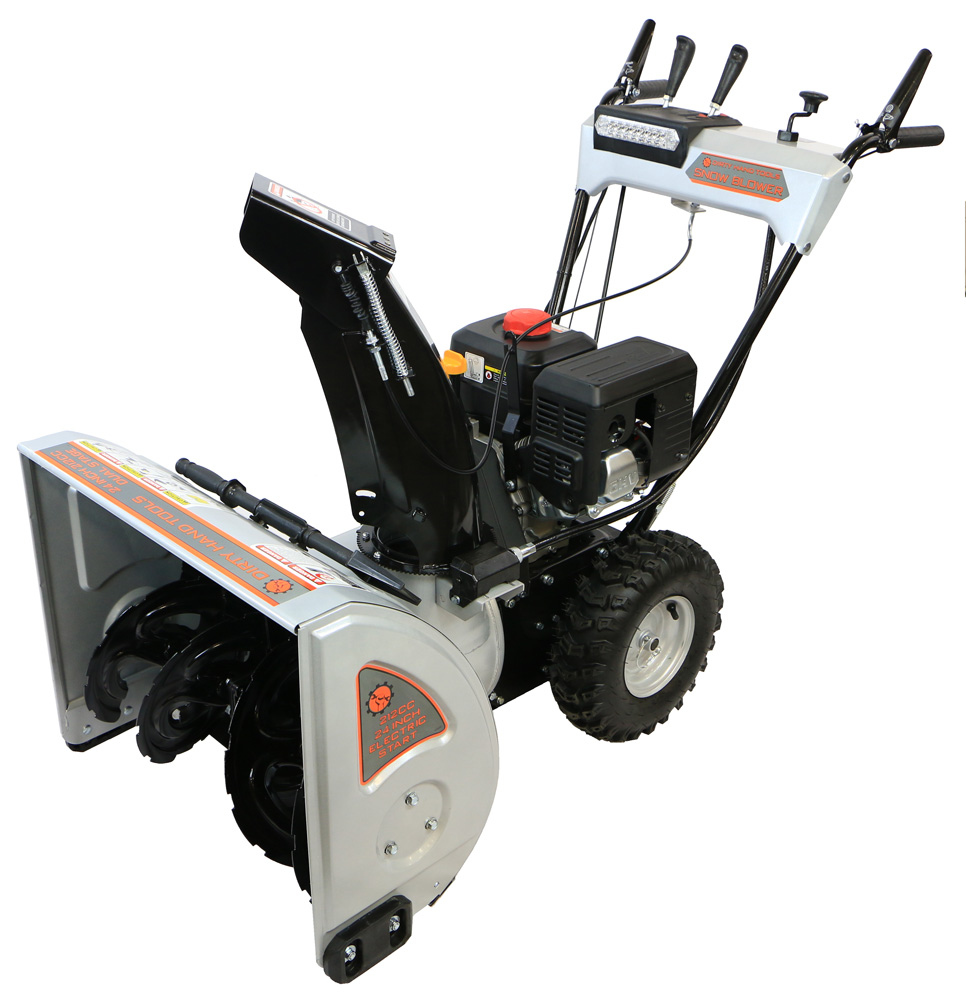 """Dirty Hand Tools 24"""" Dual Stage Snow Blower, 212cc DHT Engine by Dirty Hand Tools"""