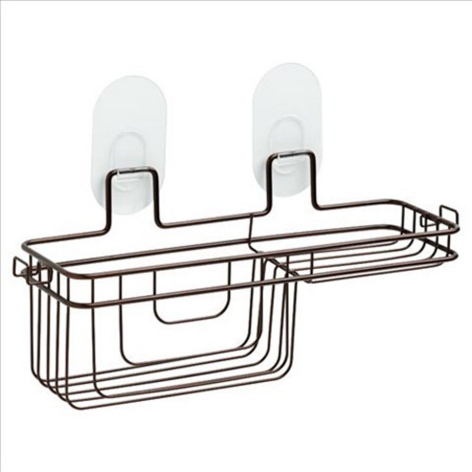 Franklin Brass Two-Tier Basket with Clear IncrediGrip Pads, Available in Multiple Colors