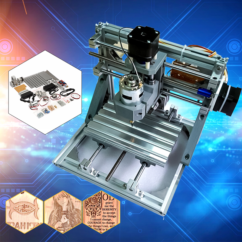 Diy Mini 3 Axis Cnc Router Engraver Pcb Pvc Milling Wood Carving Machine Self Embly Walmart Com