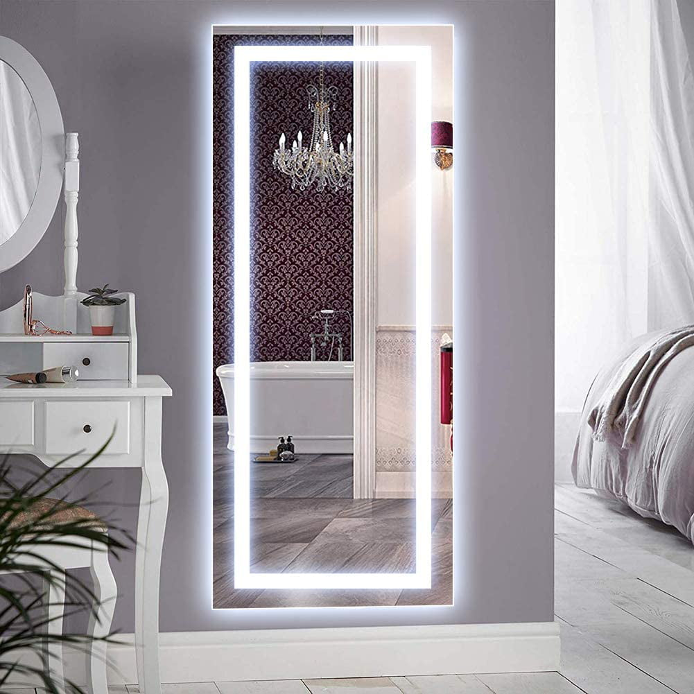 qimh vertical 47x22 inch wall mounted led lighted vanity