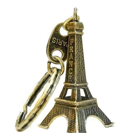 Eiffel Tower Model Keychain Retro Paris Keyring Metal Split Key Ring Tower Keychain - Eiffel Tower Ring