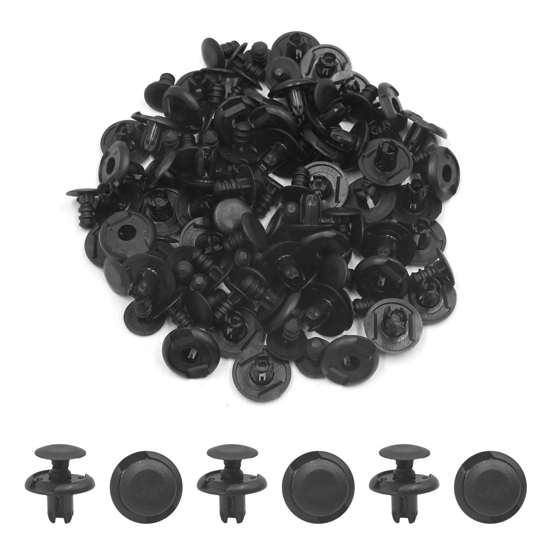 50 Pcs 8mm Trou Diamètre En Plastique Rivet Fixation Aile de Voiture Pare-chocs Clip Pousser Noir - image 1 de 2
