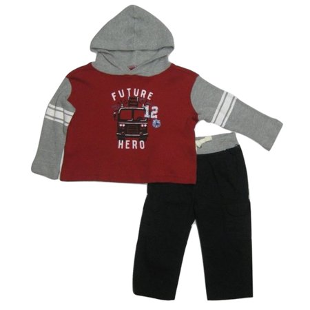 Kids Headquarters Infant Boys 2-Piece Future Hero Thermal Hoodie Pants Set