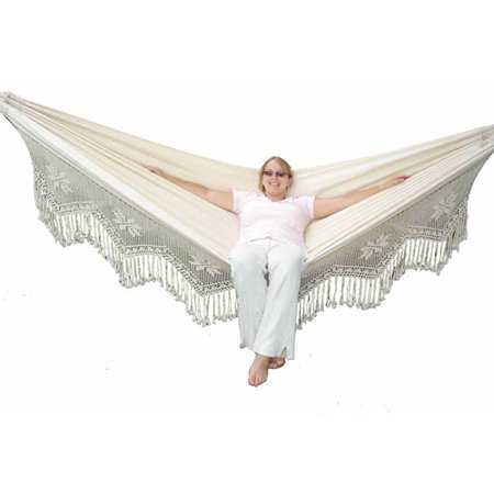 Vivere Brazilian Style Double Deluxe Hammock Natural