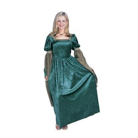 Renaissance Queen Plus Size Costume - Green - image 1 de 1