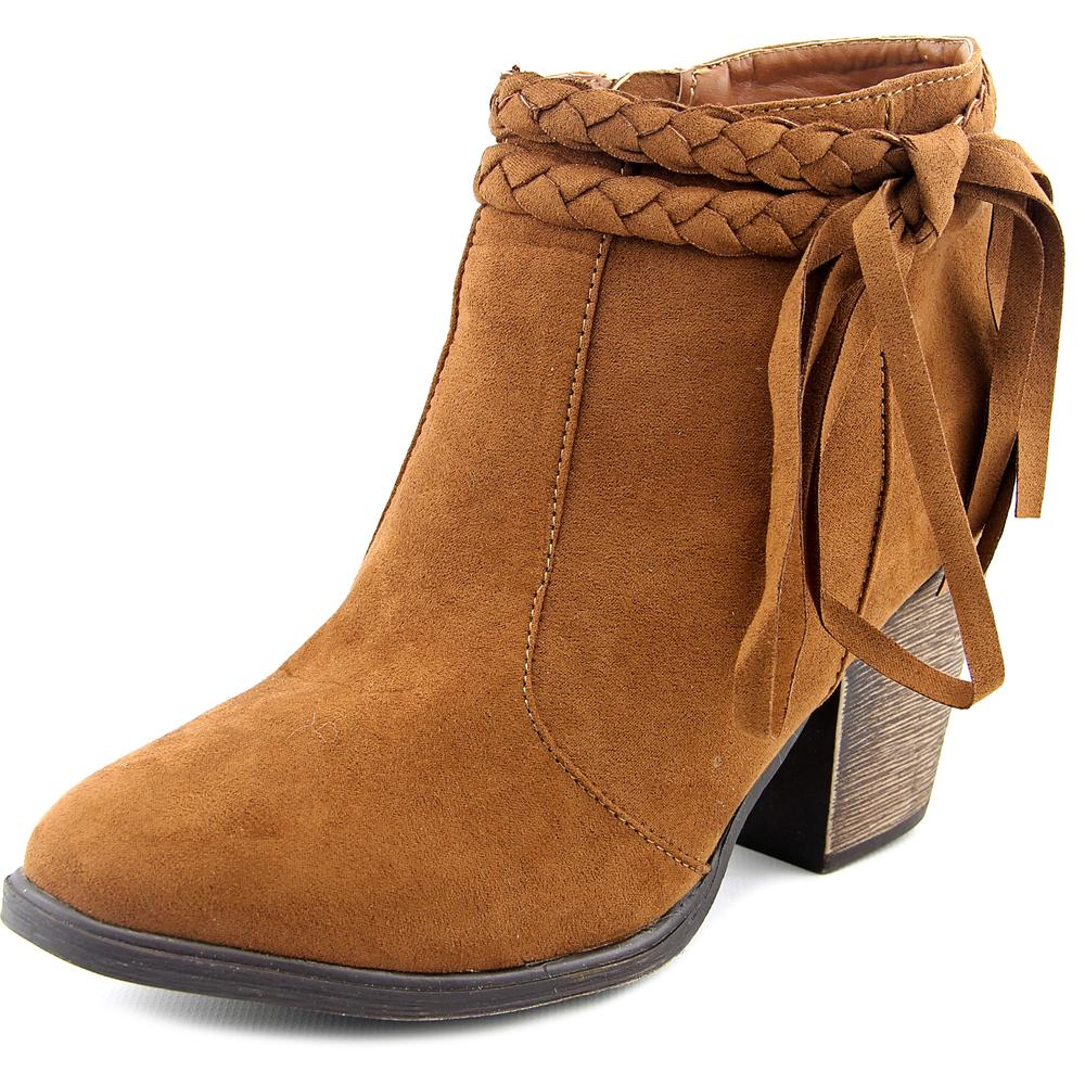 Dollhouse Shameless Women Round Toe Synthetic Brown Bootie