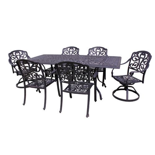 California Outdoor Designs Roma 7 Piece Dining Set