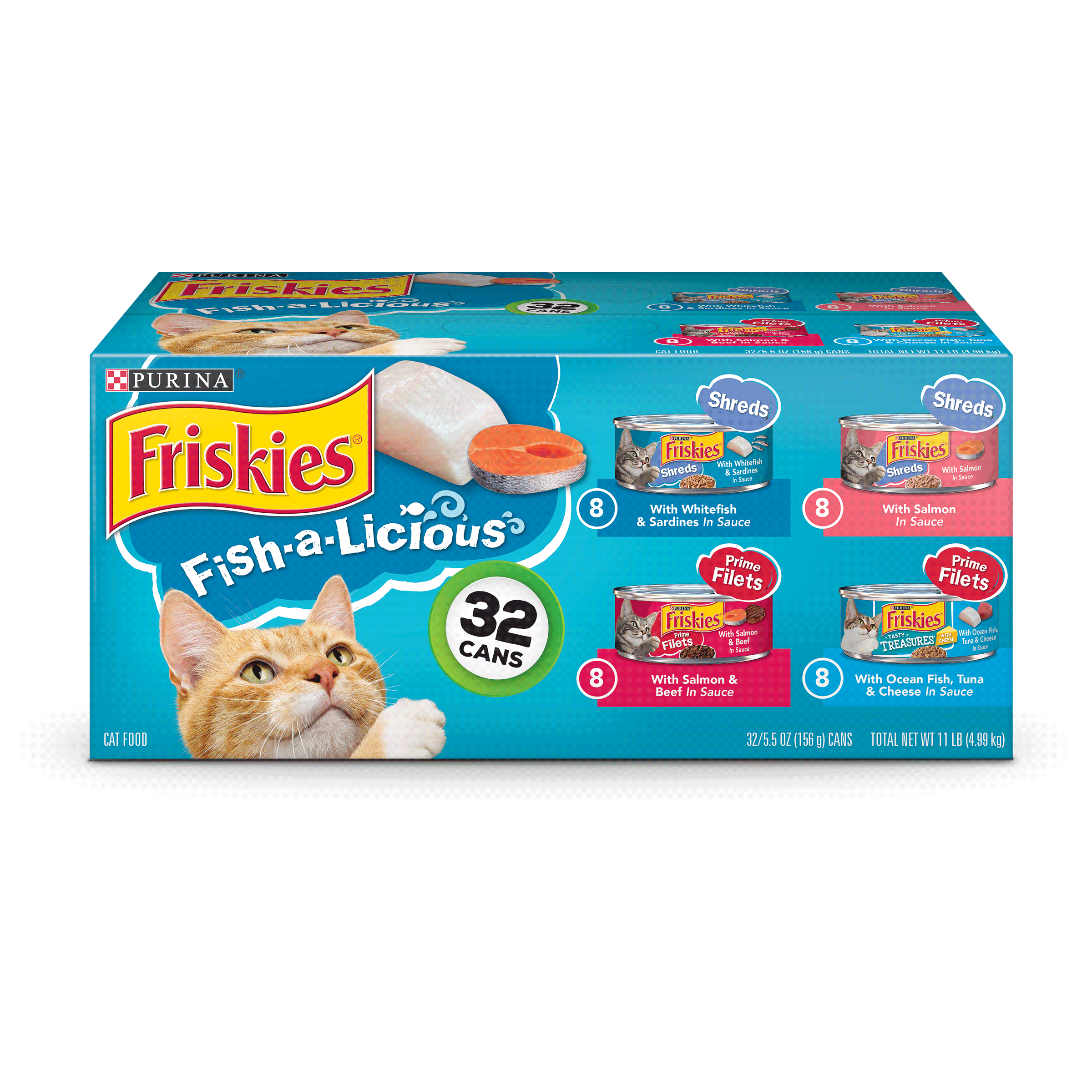 Friskies Fish-A-Licious Adult Wet Cat Food Variety Pack (32) 5.5 oz. Cans by Nestle Purina Petcare Company