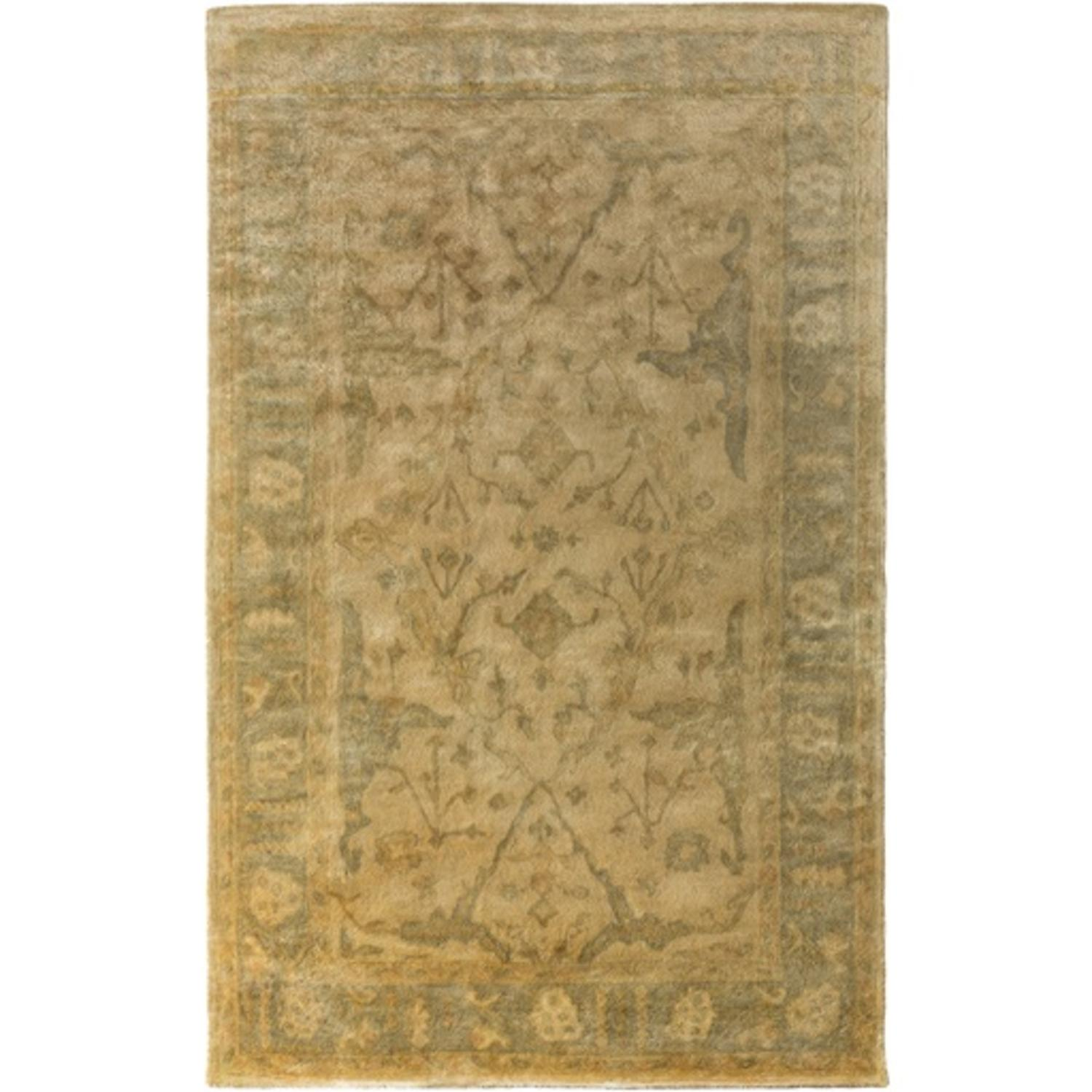 8' x 11' Mahudabi Bisque Caramel Brown and Olive Green Area Throw Rug