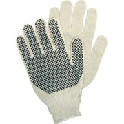 PVC Dots Knit/Polyester Gloves, White, 1 / Pack (Quantity)