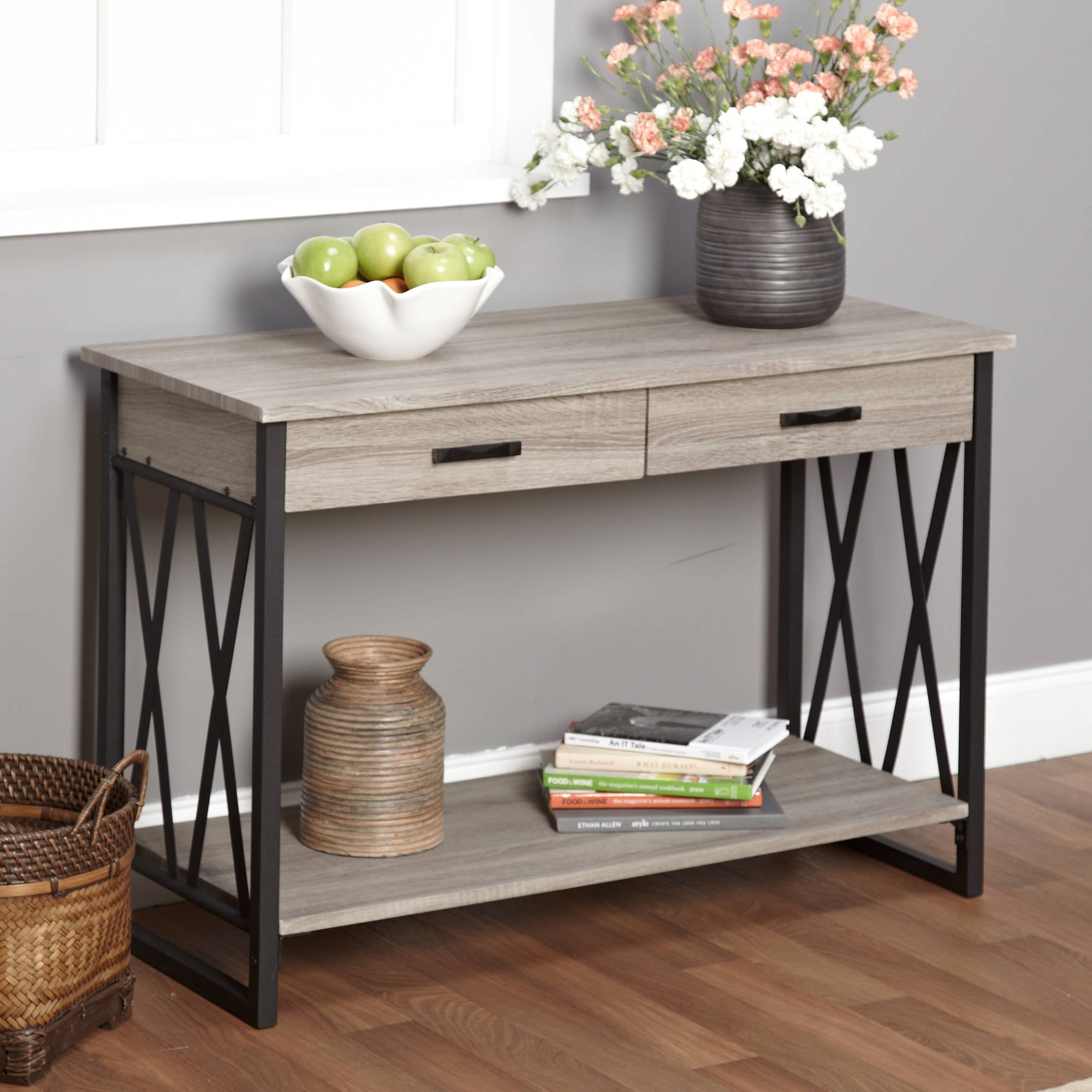 Better Homes and Gardens Traditional 2 Drawer Console Table