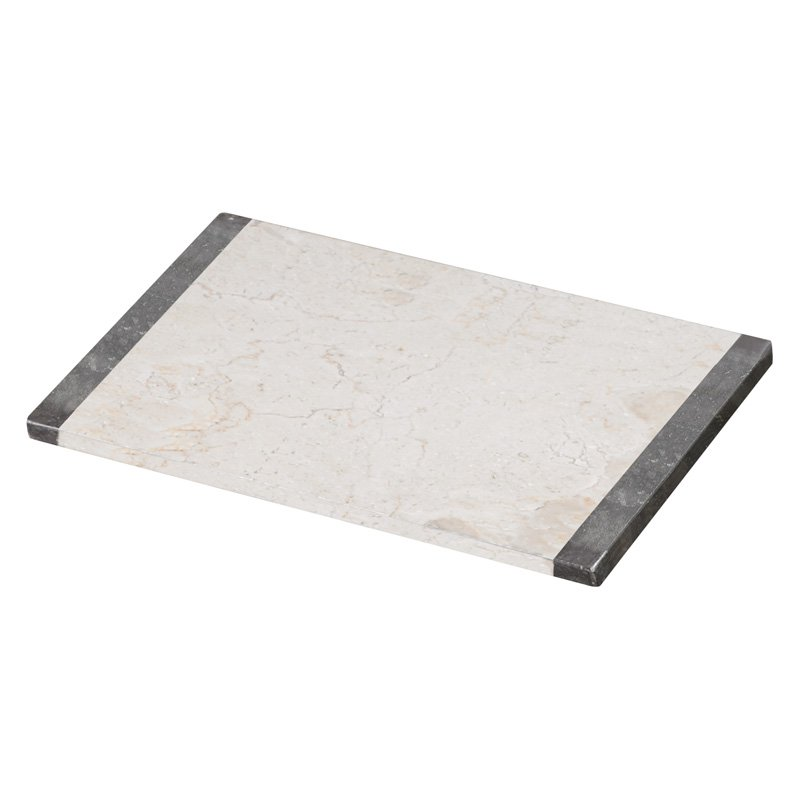 Creative Home 2 Tone Charcoal/Champagne Marble 12 x 18 Pastry Board