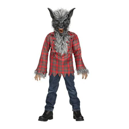 Grey Werewolf Boys Halloween Costume