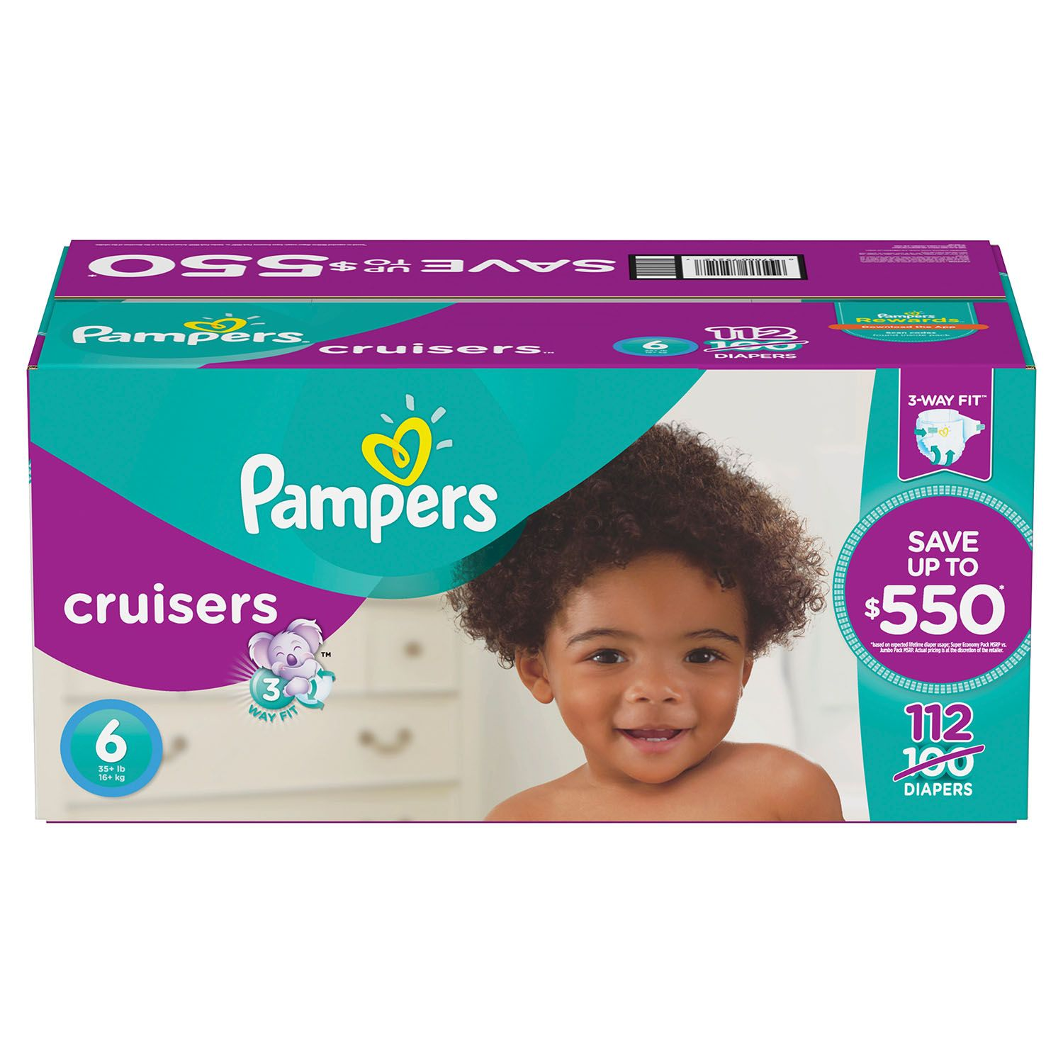 Pampers Cruisers Disposable Diapers Size 6, 112 Count, ECONOMY PACK PLUS by Discount Market Place