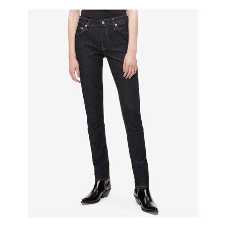CALVIN KLEIN Womens Black Skinny Jeans  Size: 30 Waist