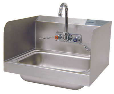 Advance Tabco 14 Mounted Hand Sink W Splash Mounted Faucet 7-Ps-66W by Advance Tabco