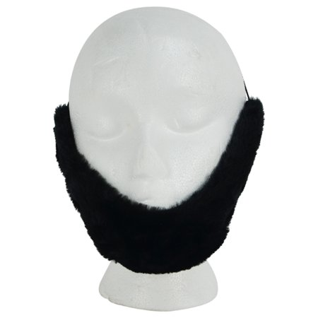 Fake Black Facial Hair Farmer/Lincoln Beard Adult Halloween Costume Theatre Prop](Fake Gunshot Wound Halloween)