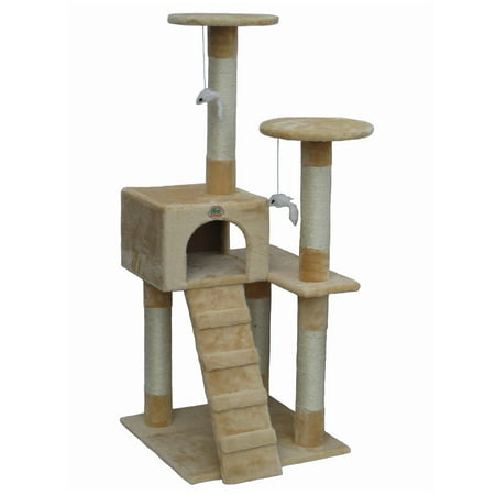 Go Pet Club Cat Tree - Beige - 52 in.