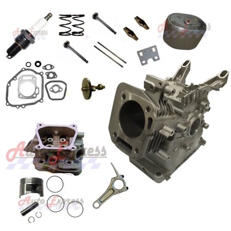 Fits Honda GX160 Engine Block Cylinder Head Camshaft Connecting Rod Valves Gaskets Camshaft Cylinder Head